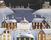 Folk Art Print Winter Festival