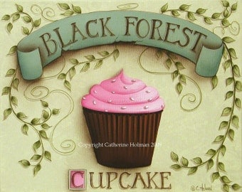 Cupcake Art print Black Forest