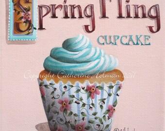 Cupcake Print Spring Fling by Catherine Holman