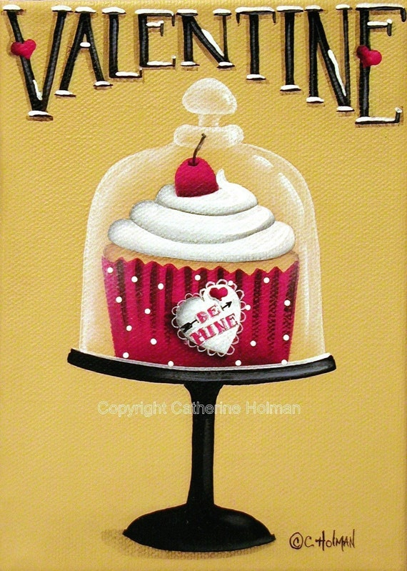 Cupcake Print Be Mine Valentine