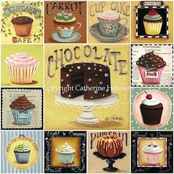Cupcake Mosaic Print