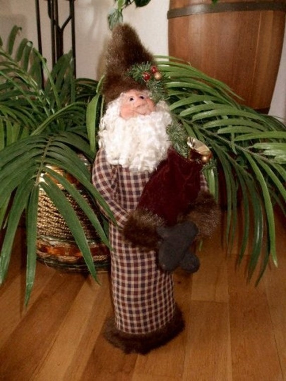 Santa Claus Christmas Stump Doll Instant Download Sewing E Pattern PDF