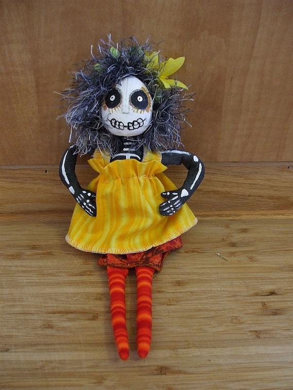 Day of the Dead Día de los Muertos Primitive Art Doll