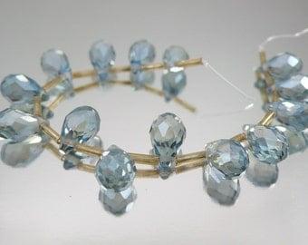 Crystal Teardrops Two Tone Blue