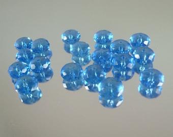 London Blue Quartz 6x8mm Roundel Semi Precious Gems