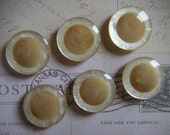 """Classy Pearl Ivory And Tan Self Shank Buttons, 3/4"""", Made in Italy"""