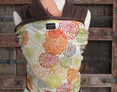 Last one-ORGANIC COTTON  Baby Wrap/Sling Carrier-Floral Explosion-Newborn through Toddler-DvD Included