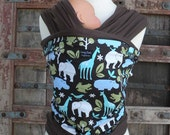 SUPER LIGHTWEIGHT-Organic Bamboo Baby Wrap--Zoology-DVD Included-One Size Fits All