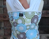 ORGANIC BAMBOO Baby Wrap Sling Carrier-Roundabout-One Size Fits All-Newborn to Toddler-DvD Included