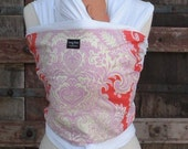 ORGANIC COTTON Baby Wrap-Tangerine- All Wraps Are  One Size Fits All--DvD Included