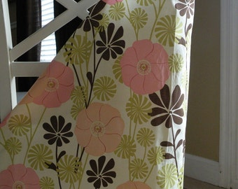 Beautiful Nursing Cover-Pink/Chocolate Daisy-FREE SHIPPING when purchased with a wrap