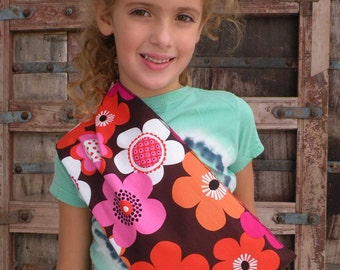 READY TO SHIP-Just Like Mommy Baby Doll Sling- Orange Floral-Free Shipping When Purchased With A Wrap