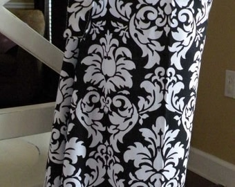 Beautiful Nursing Cover-Black Damask-FREE SHIPPING when purchased with a wrap