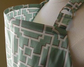 Beautiful Nursing Cover-Mod Lattice-Blue-FREE SHIPPING when purchased with a wrap