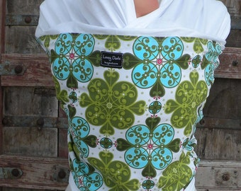 ORGANIC COTTON Baby Wrap-Gothic Blue On White-DVD Included-One Size Fits All