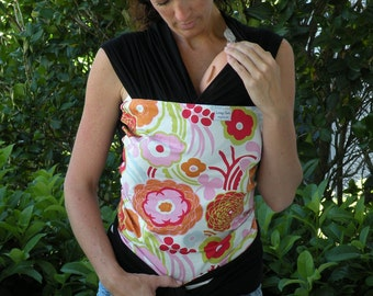 Baby Wrap Carrier-ORGANIC COTTON Baby Wrap/Sling Carrier-Pink Kleo -Newborn through Toddler- DvD Included