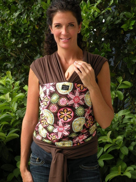 Ready To Ship-Baby Sling Wrap Carrier-ORGANIC Cotton-Carnival-Newborn through Toddler-DvD Included-One Size Fits All
