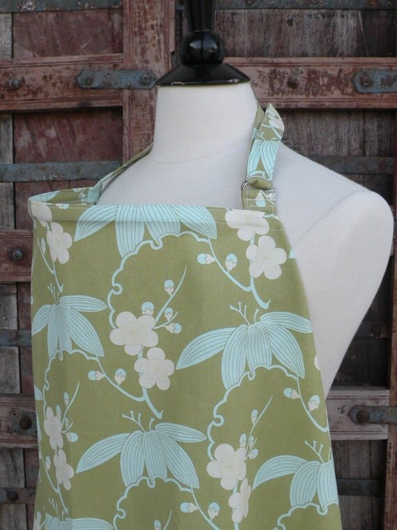 Beautiful Nursing Cover- Cherry Blossom -FREE SHIPPING when purchased with a wrap