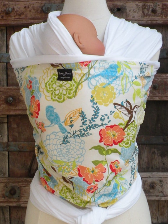 ORGANIC COTTON Baby Wrap-Spring Fling-DvD Included-One Size Fits All-Newborn-Toddler