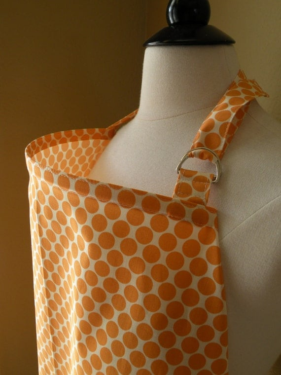 Beautiful Nursing Cover-Tangerine Dots-FREE SHIPPING when purchased with a wrap