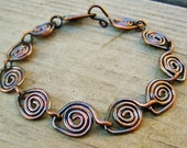 Copper Parade - antiqued copper wire wrapped bracelet