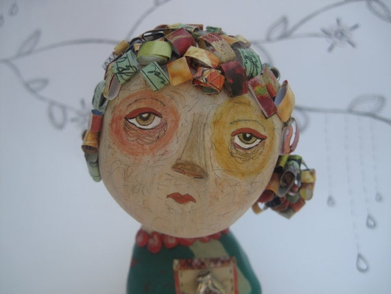 HOLIDAY SALE Emerson. Original Clay Art Doll