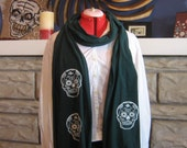 Gocco Printed Jersey Scarf- Day of the Dead