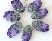 Wisteria Fairy Wing Bead set 7 Made To Order CD Lampwork
