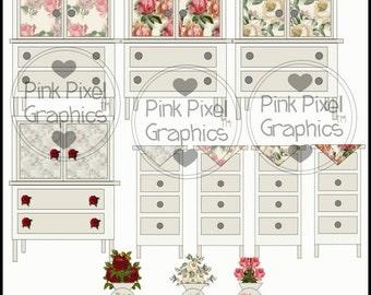 Buy 1 Get 1 Free Cottage Chic Furniture Clip Art