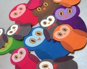 Colorful Owl Sticker Pack