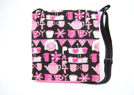 Bargain - Large Messenger Bag Perfect for Tweens Tea Party SALE PRICE