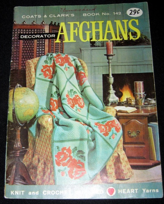 Coats and Clark's Decorator Afghans to knit and crochet