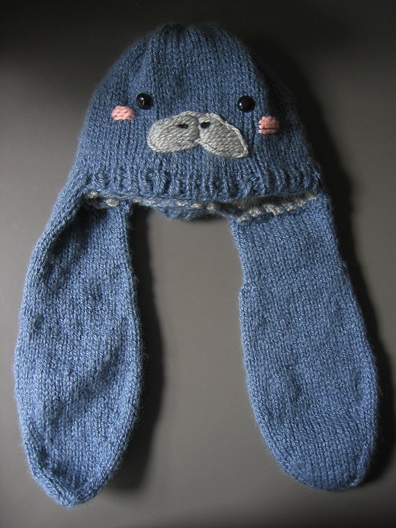 manatee hat knitting pattern