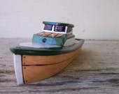 Green Sabre Toy  Wooden  Boat