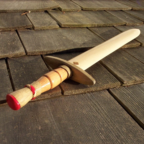 Red  Pirate Toy Wooden Sword