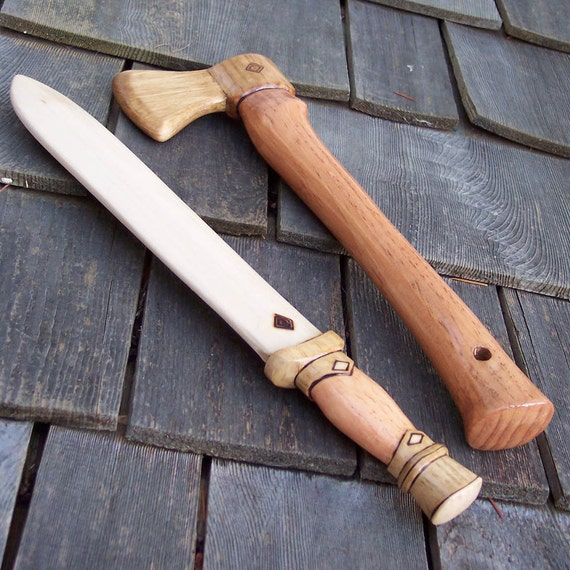 The Wise Hero Toy Axe and Sword Set