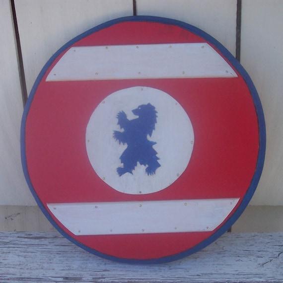 Blue Bear Toy Wooden Shield