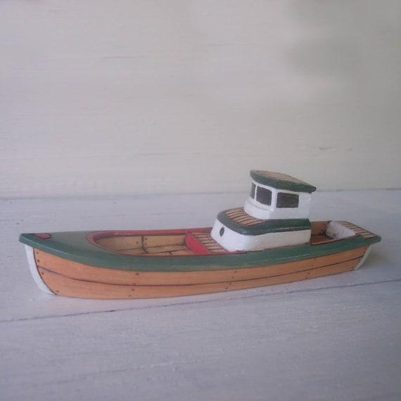 Green Haftig Toy Wooden Boat