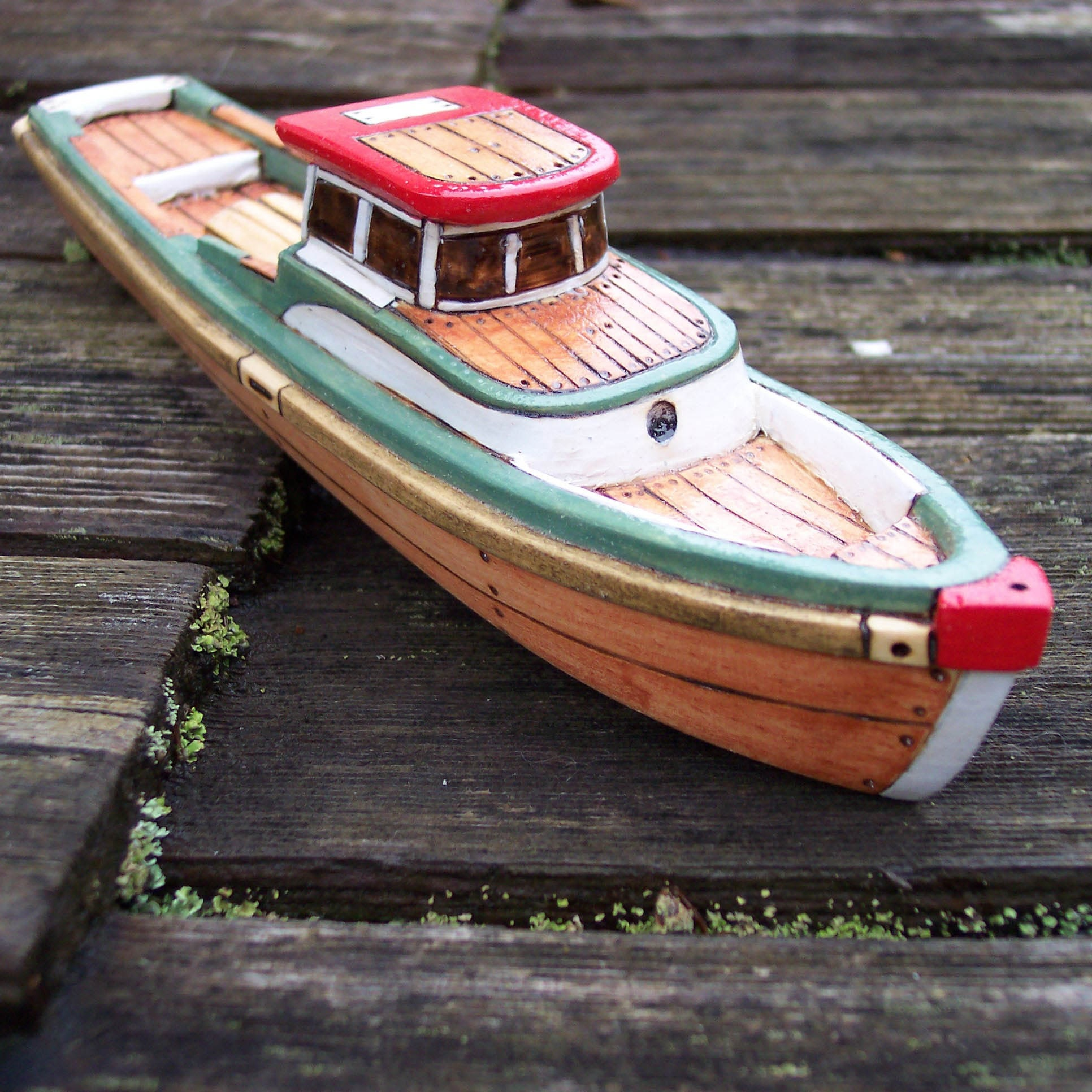 The Green Lobster Wooden Toy Boat by FriendlyFairies on Etsy