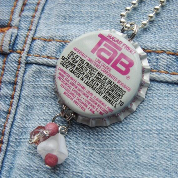 Bottle cap Pendant Necklace - Tab