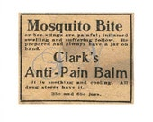 Unique Antique Newspaper Advertisement Digital Image Clarks's Anti-Pain Balm