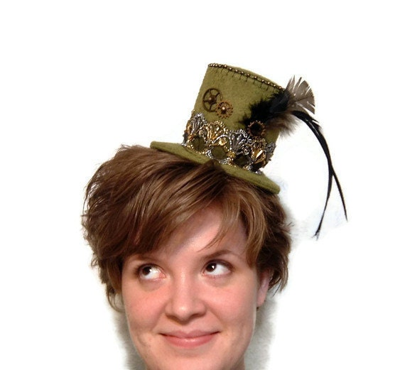 Steampunk Hat Mini Top Hat Victorian Style Hat Band