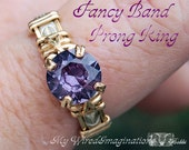 Wire Wrap Prong Ring Tutorial, Fancy Band Prong Ring PDF File, Prong Ring Pattern, How to Make a Ring Instructions Ring Design Pattern