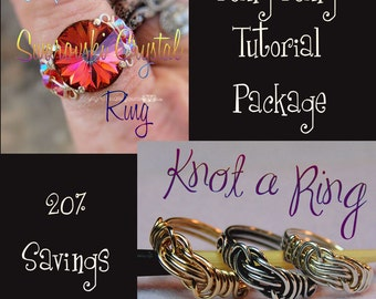Wire Jewelry Tutorials - Intermediate Ring Tutorial Package 20% Discount - Instant Downloadable PDF File