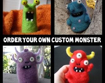 Custom Needle-Felted Monster