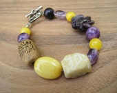Sunshine and Violets - Stone Bracelet