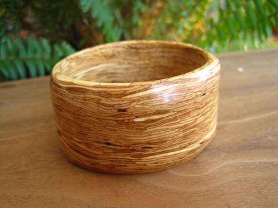 Recycled Pressboard Wood Bangle - Size Small