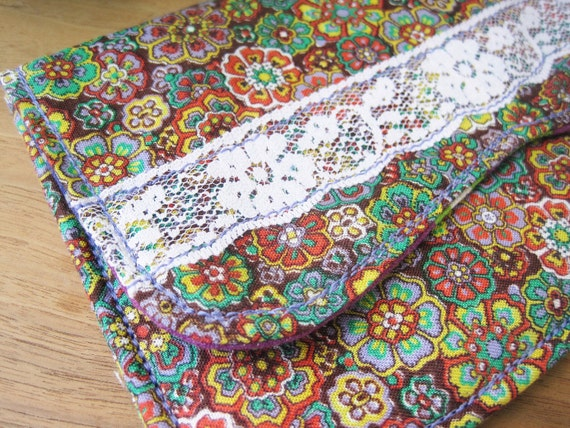 Pouch - Clutch - Lace- Floral - Bikes-  Magnetic - Card Holder - Summer Accessories - In-Bloom - Ontario Canada - Jillian Driedger