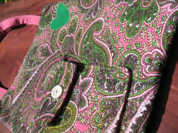 For the Love of Paisley and Pink- Reversible Tote