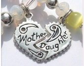 GWBG MOM Mother and Daughter Bracelet Set Heart Charm by Micheles Jewelry Designs
